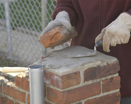 What is the function of sand in mortar civilblog org for Mixing brick and stone